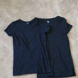 Black t shirt scoopneck And crewneck